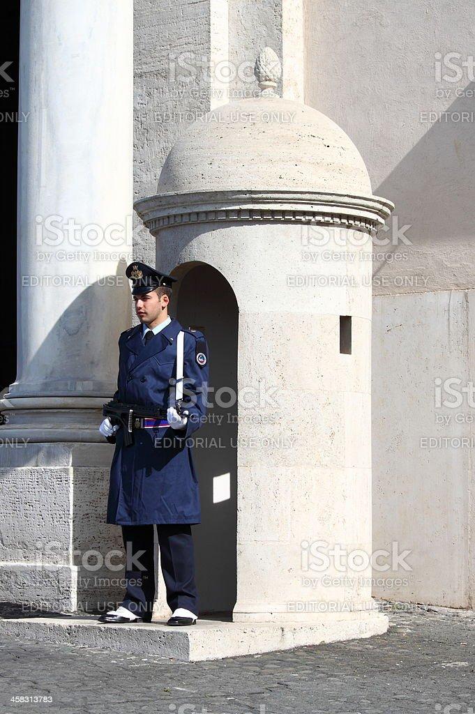 Guard at Quirinale Palace royalty-free stock photo