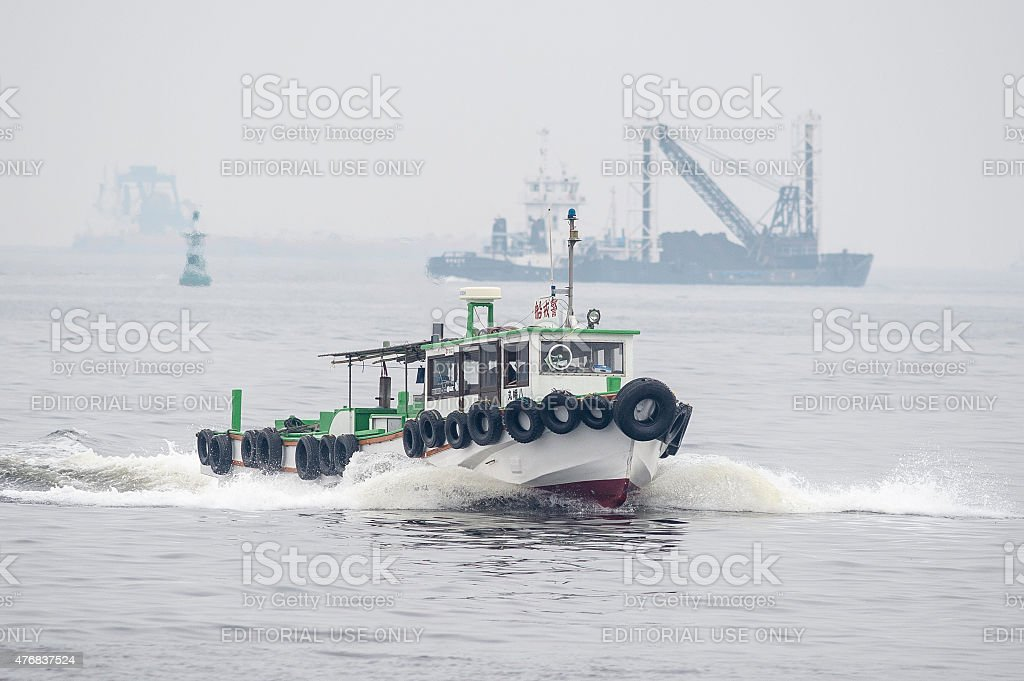 Guard boat royalty-free stock photo