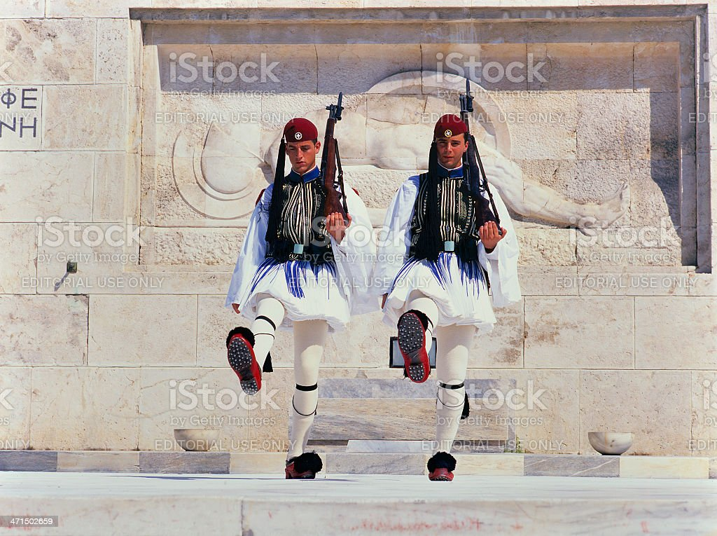 Guard change ceremony, Athens royalty-free stock photo