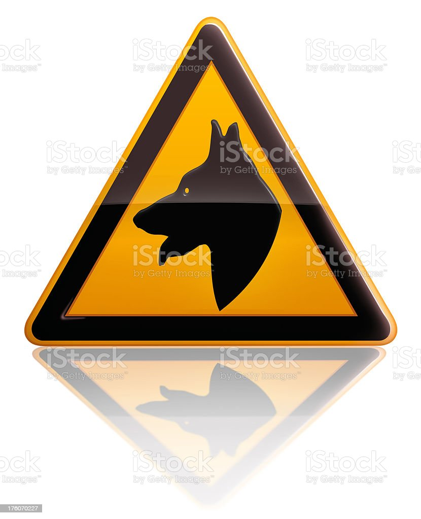 GUARd dog sign stock photo
