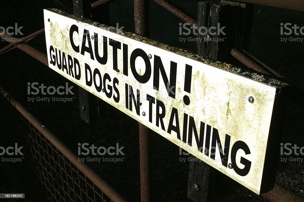 Guard dogs sign royalty-free stock photo
