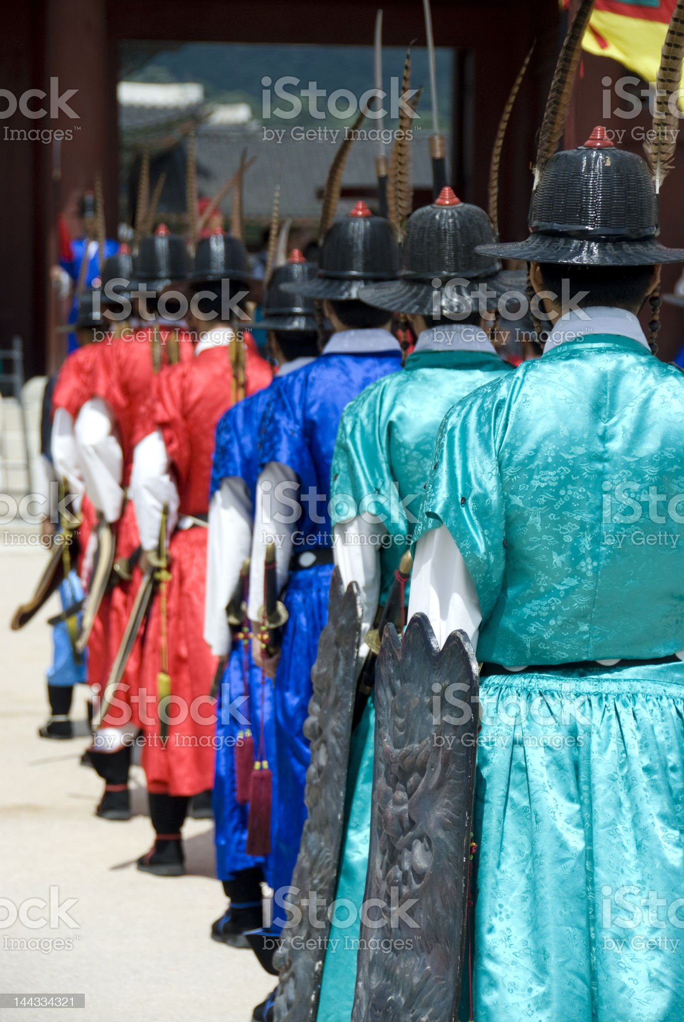 Guard Formation royalty-free stock photo