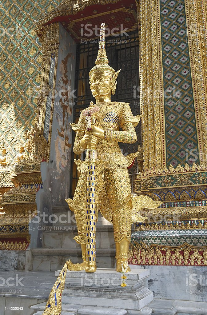 Guard in temple royalty-free stock photo