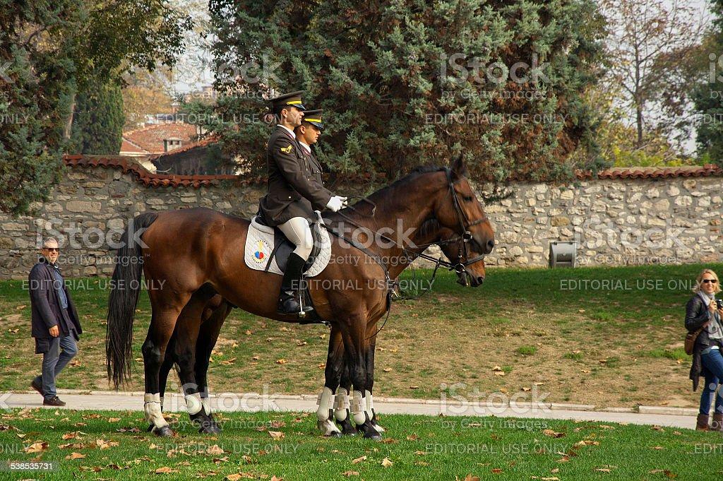 Guard of Topkapi Palace stock photo