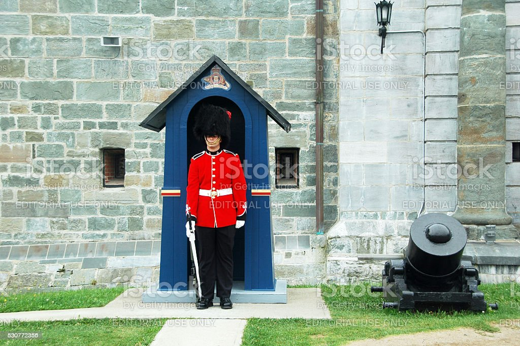 guard  Quebec stock photo
