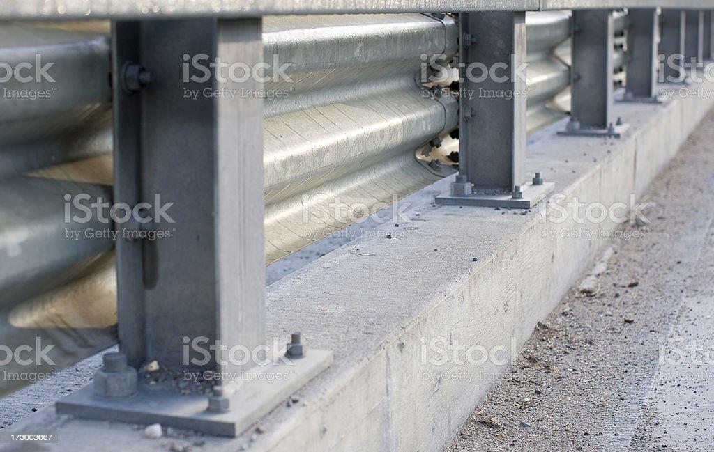 Guard Rail on highway. stock photo