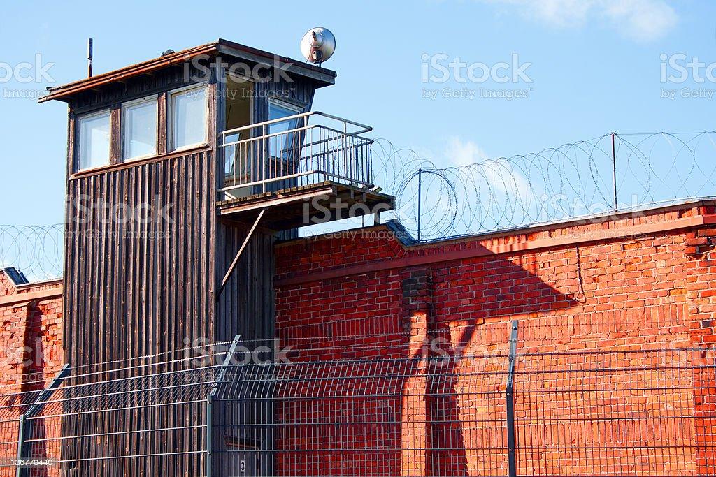 Guard tower in Helsinki prison royalty-free stock photo