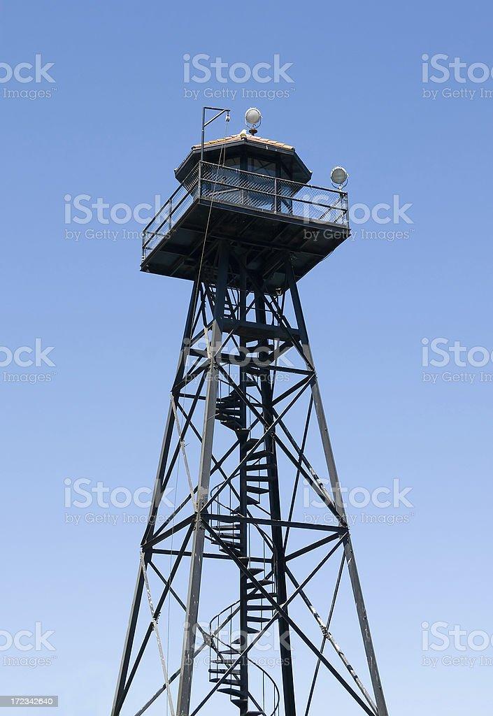 Guard Tower on Alcatraz Island, San Francisco stock photo