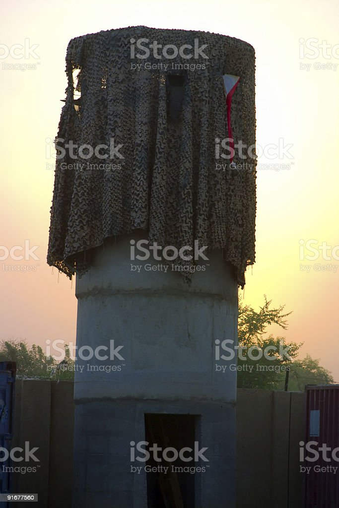 Guard Tower royalty-free stock photo