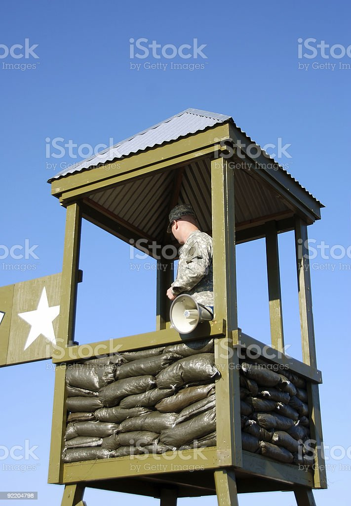 Guard tower stock photo