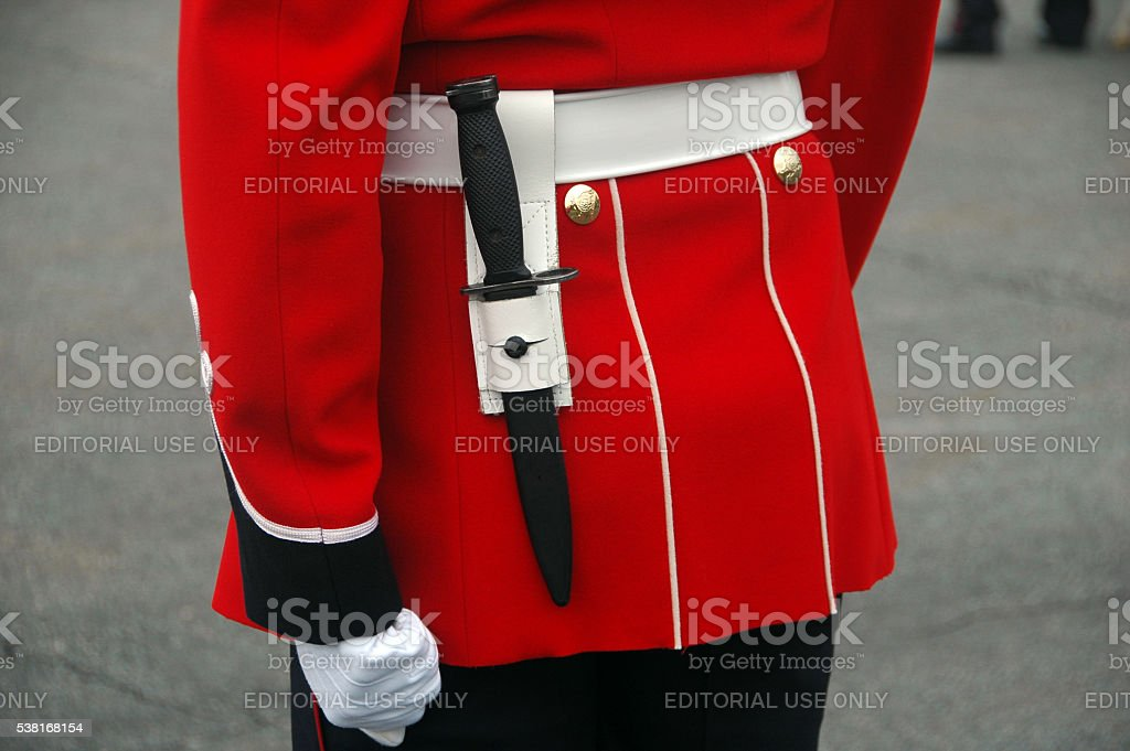 guard uniform Quebec stock photo