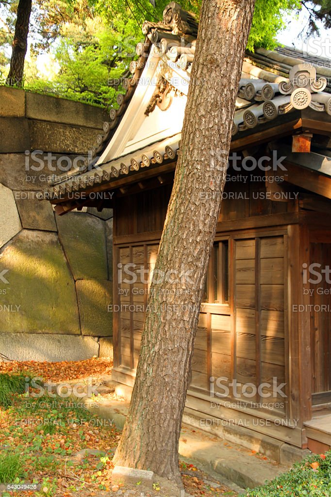 Guardhouse at Sunset stock photo