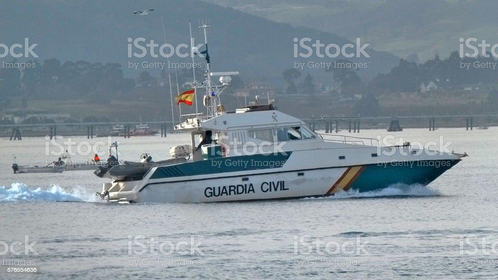 Guardia Civil (Spanish police) boat stock photo
