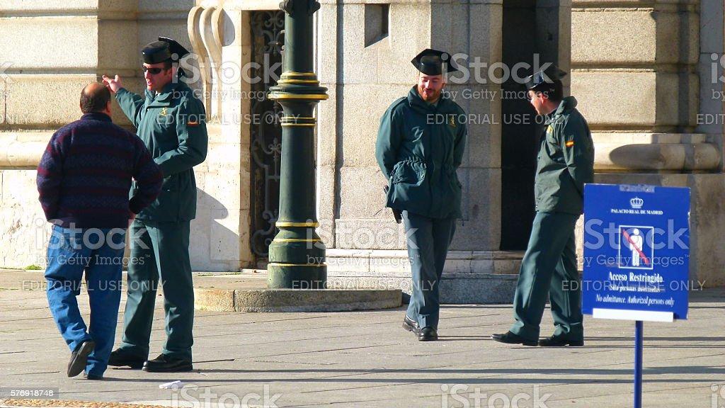 Guardia Civil stock photo