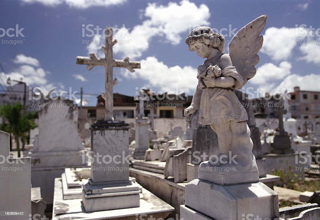 Guardian Angel, Holguin stock photo