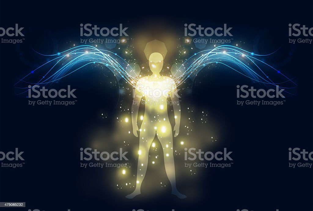 guardian angel vector art illustration