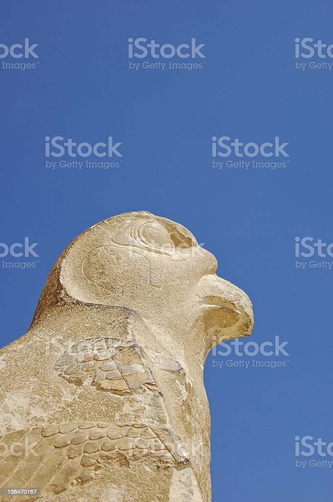 Guardian at Hatshepsut temple royalty-free stock photo