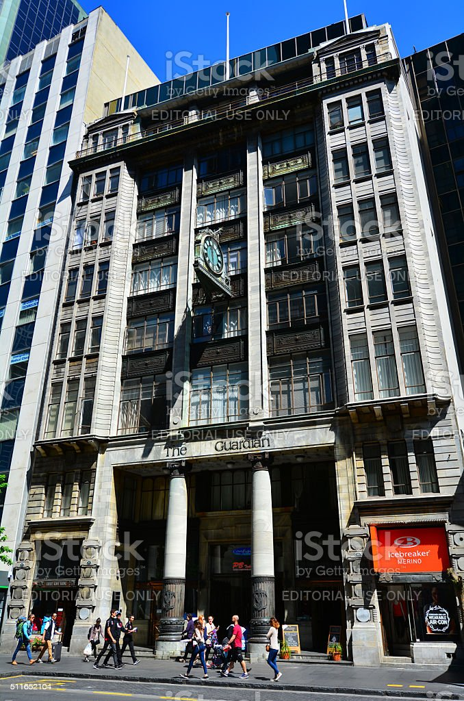 Guardian building in Auckland CBD, New Zealand stock photo