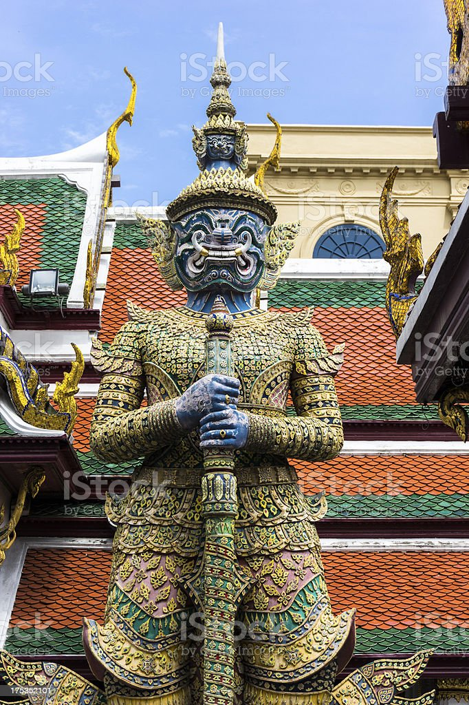 Guardian Demon at the Grand Palace. royalty-free stock photo