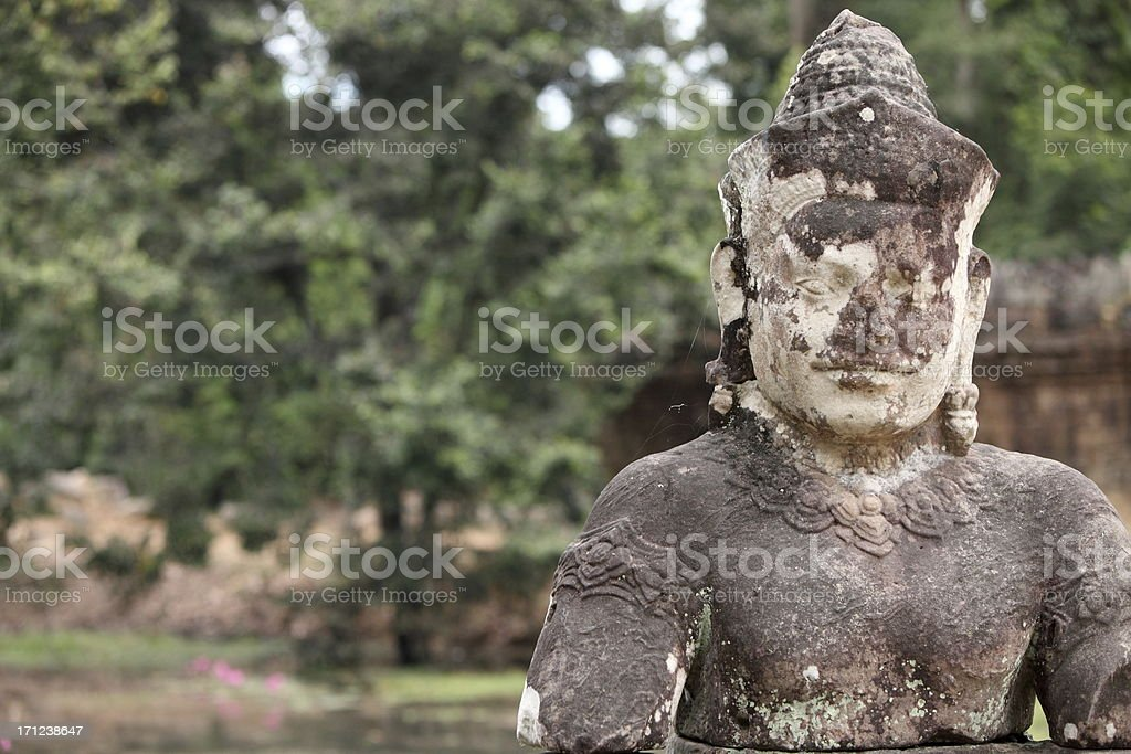 Guardian giant in Preah Khan temple, Cambodge stock photo