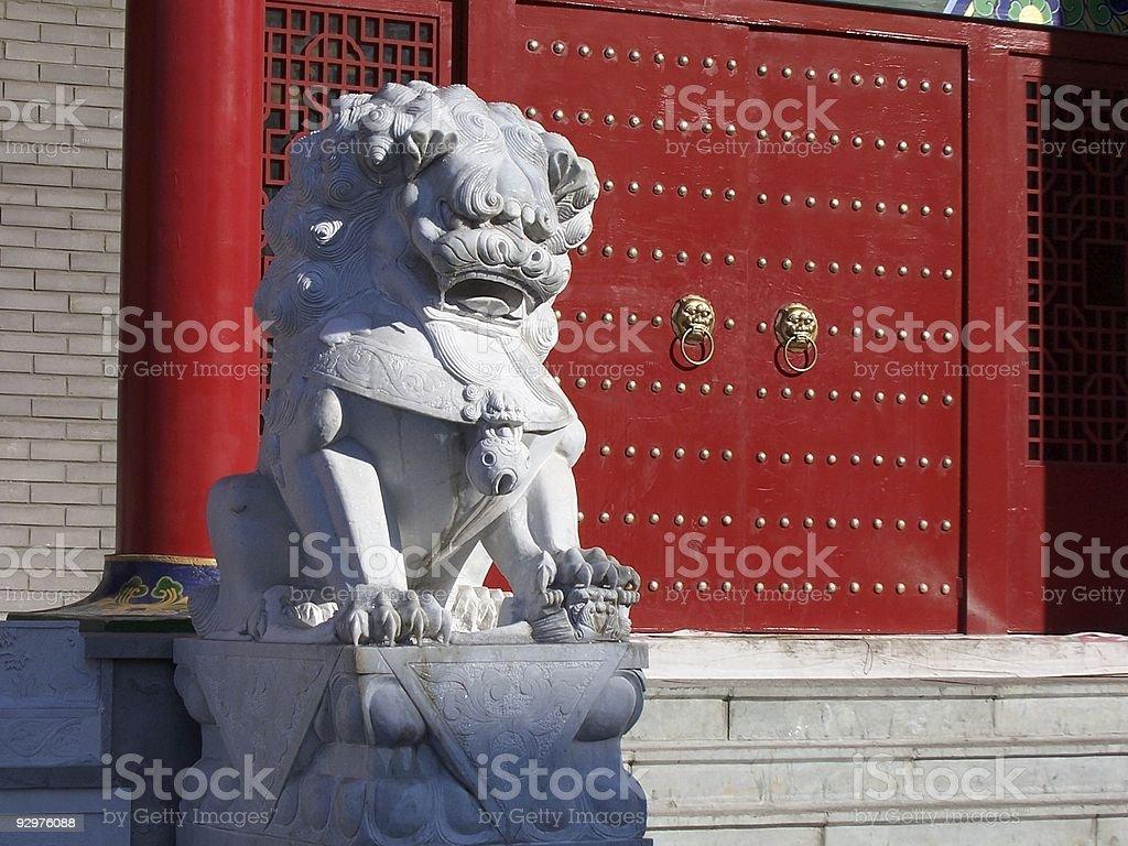 guardian lion, royalty-free stock photo
