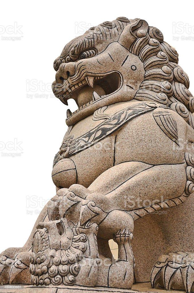 Guardian Lion Statue stock photo