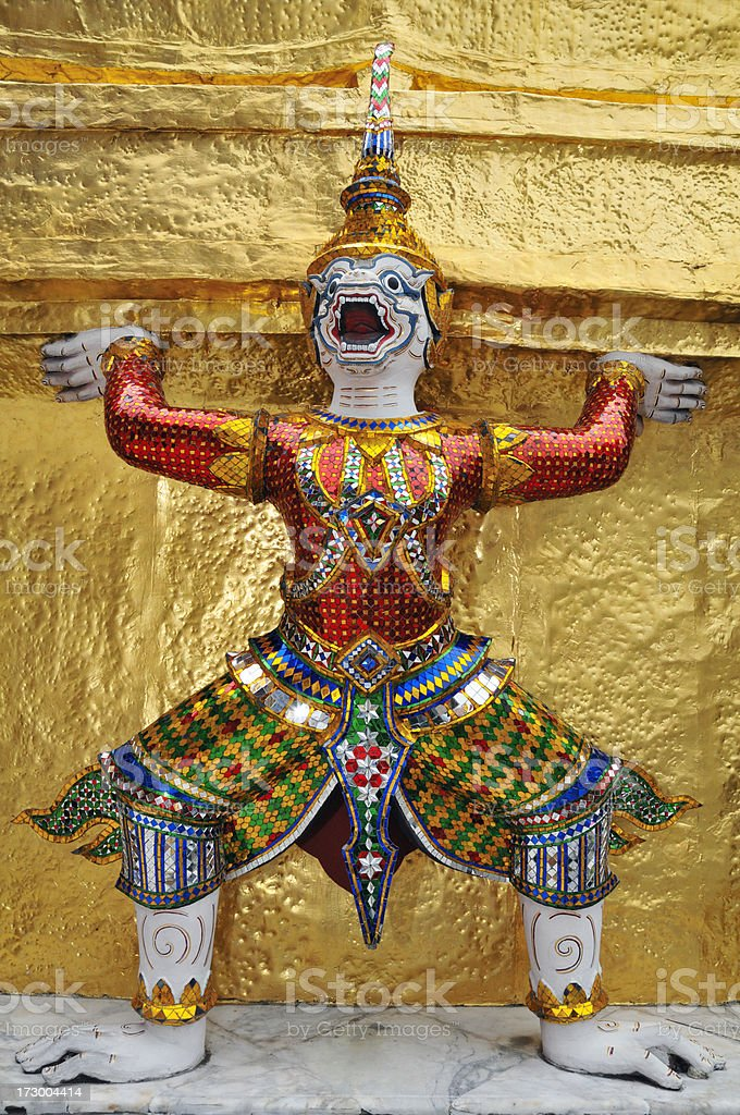 Guardian of a Buddhist Temple royalty-free stock photo
