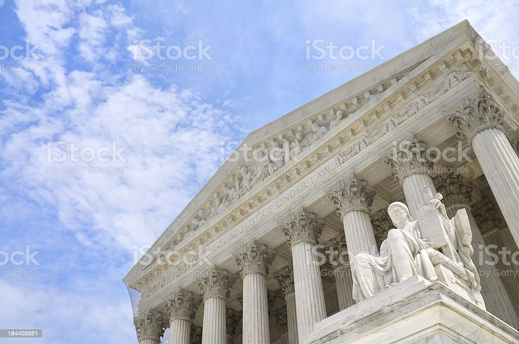 Guardian of Law Statue United States Supreme Court Building royalty-free stock photo