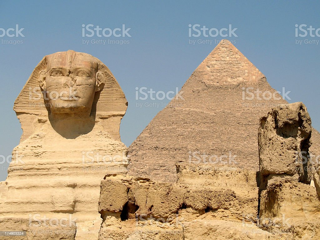 Guardian of the Pyramids stock photo