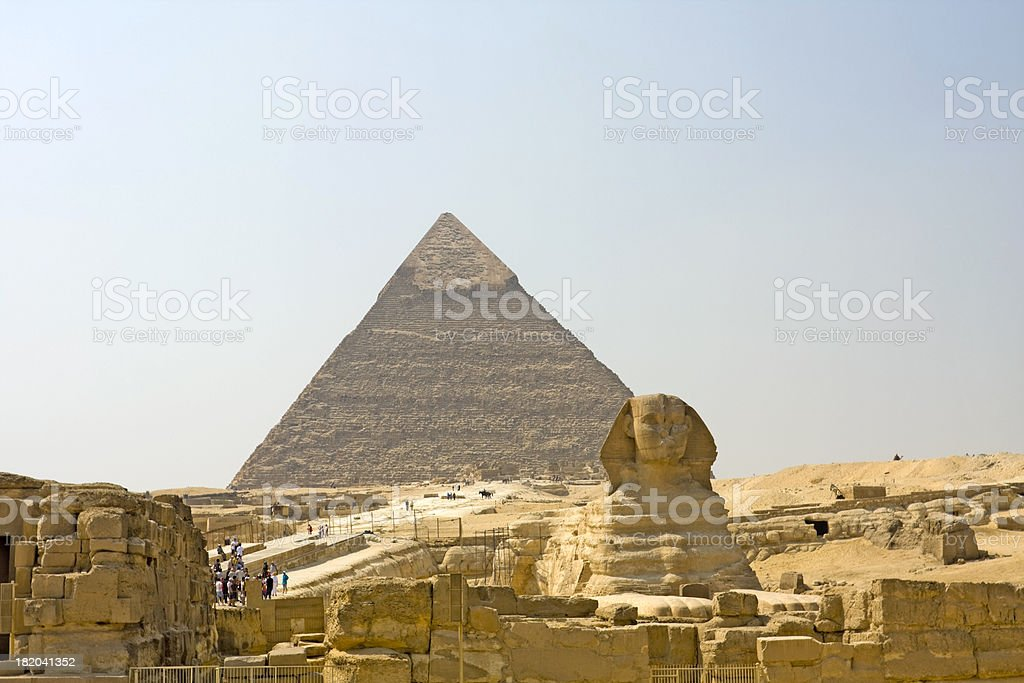 Guardian of the Pyramids stock photo