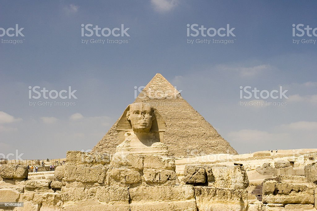 Guardian of the Pyramids (Sphinx) stock photo