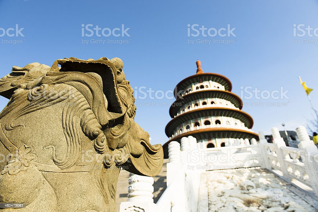 Guardian of the temple royalty-free stock photo