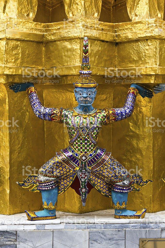 Guardian of Wat Pra Kaew Grand Palace Bangkok royalty-free stock photo