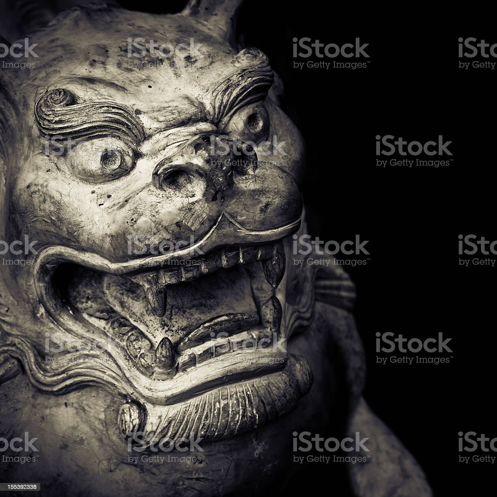 Guardian statue royalty-free stock photo