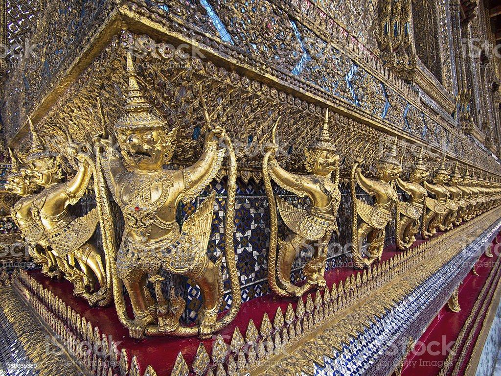 Guardian Statues at Wat Phra Kaeo, Grand Palace, Bangkok, Thailand royalty-free stock photo