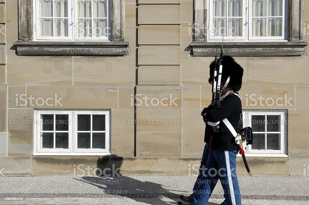 Guarding Amalienborg Palace stock photo