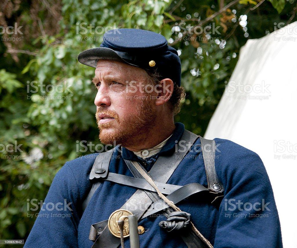Guarding Camp stock photo