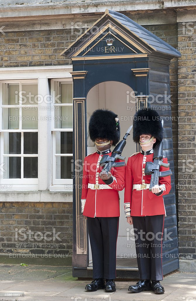 Guarding Clarence House royalty-free stock photo