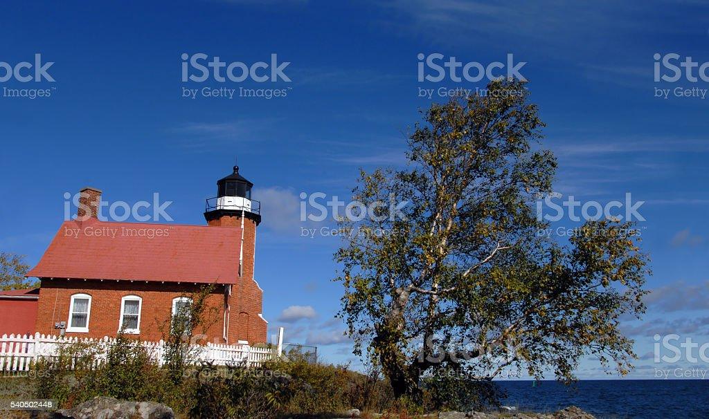 Guarding Lake Superior stock photo