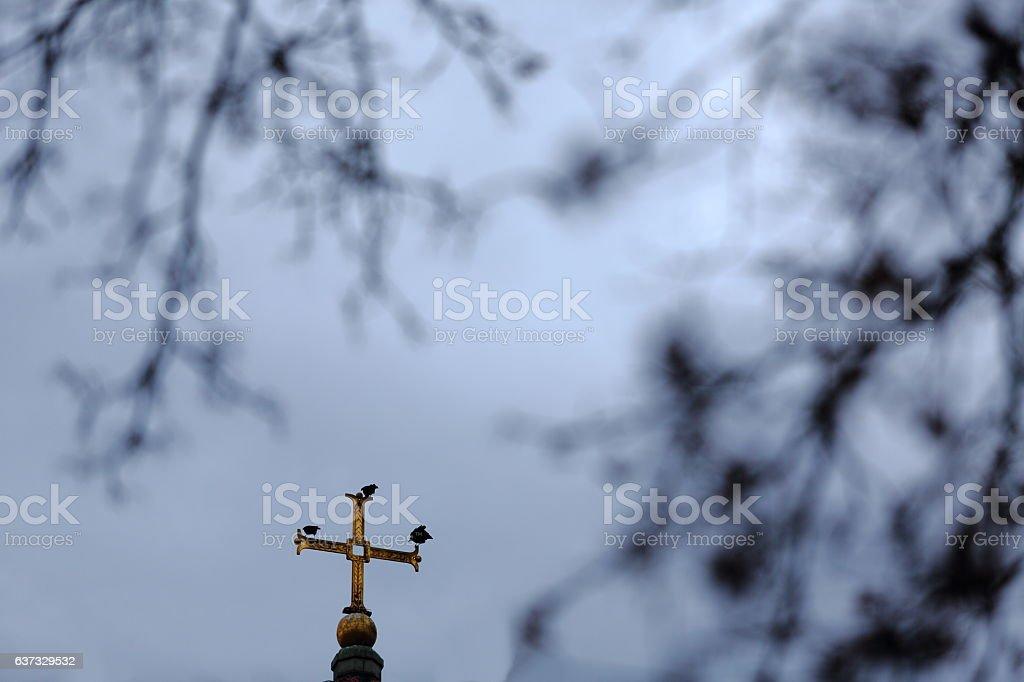 Guarding the Cross stock photo