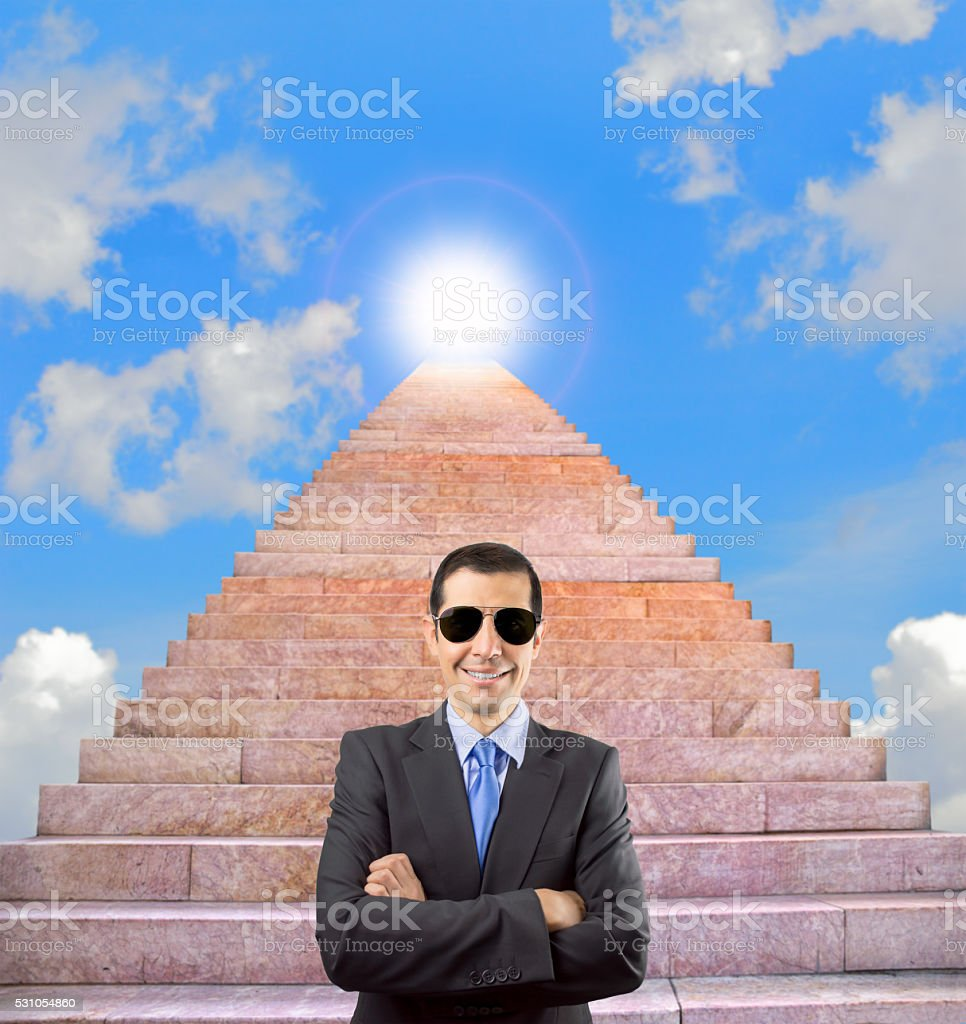 guarding the entrance to success stock photo