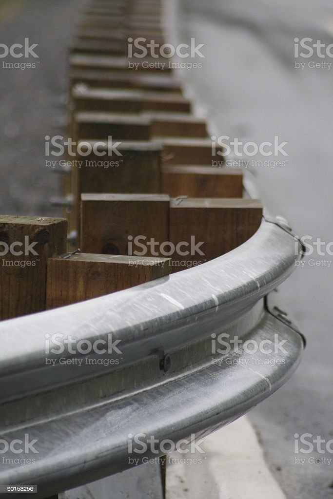 Guardrail on the Highway royalty-free stock photo