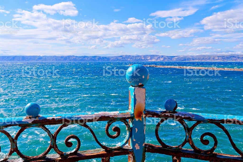 guardrail stock photo