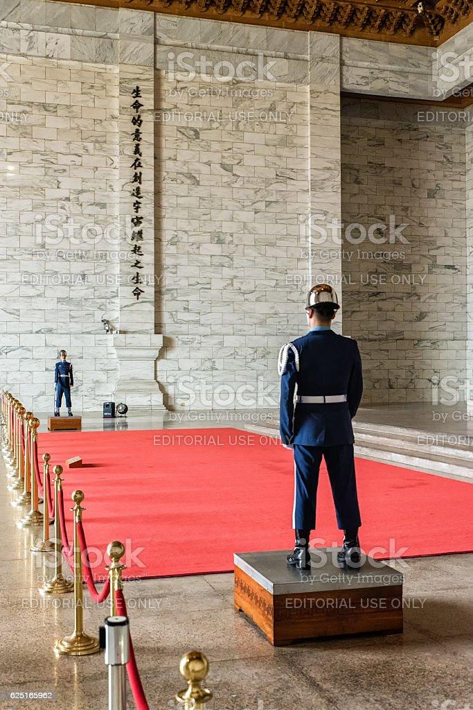 Guards at CKS Memorial Hall stock photo