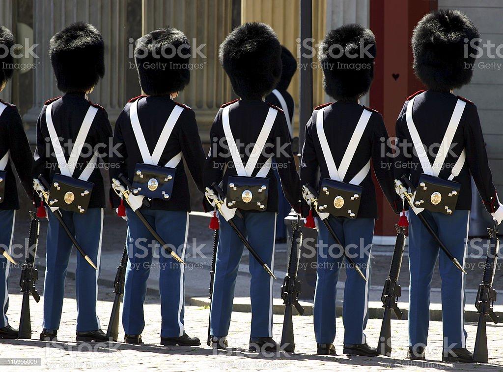 Guards in Copenhagen royalty-free stock photo
