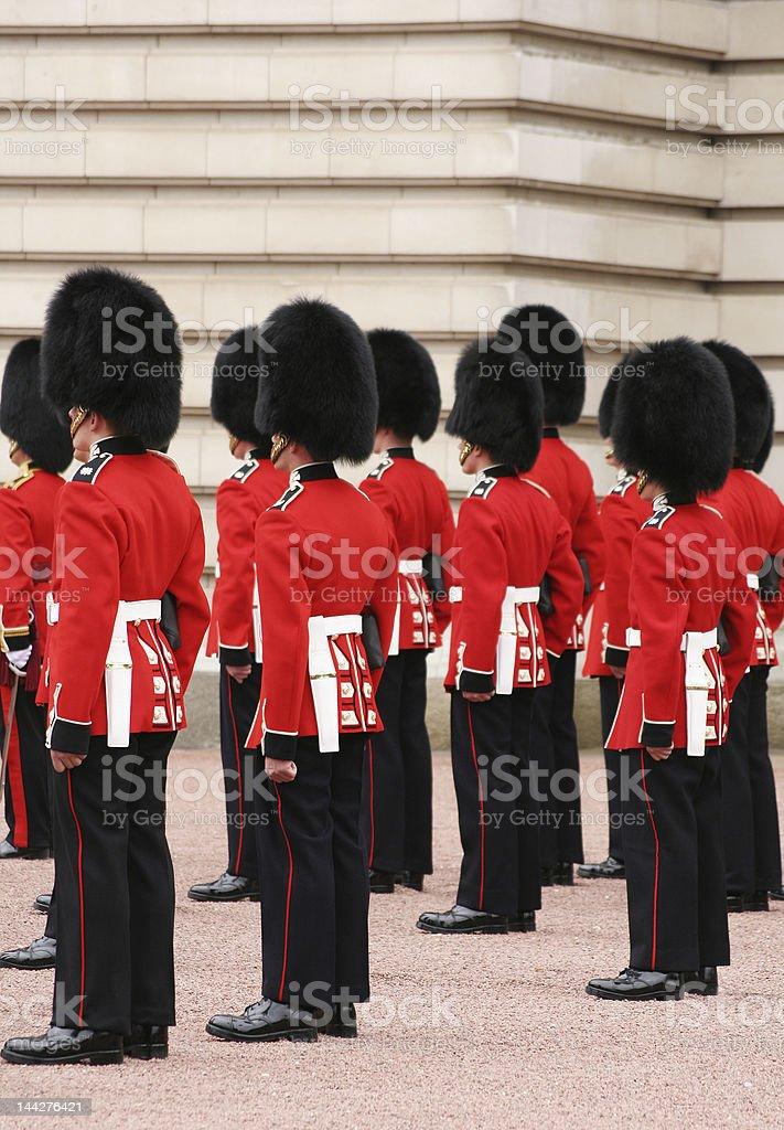 guards in uniform stock photo
