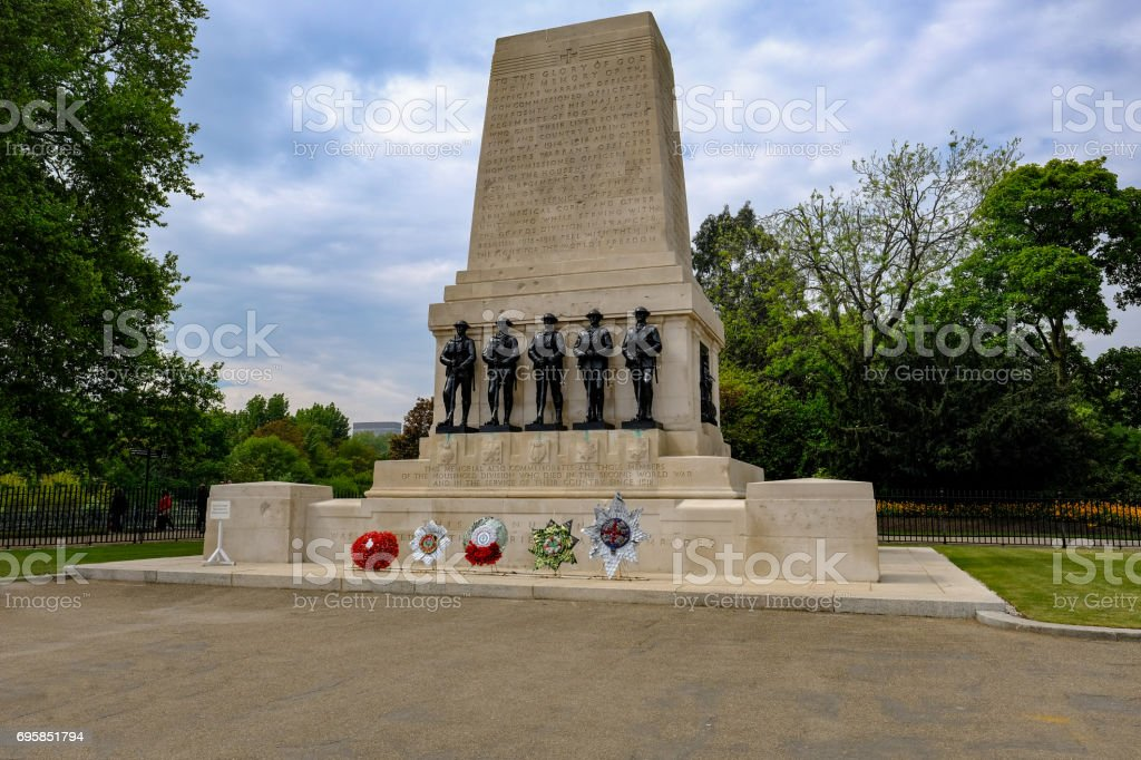 Guards Memorial, St. James, London, commemorates first world war. stock photo