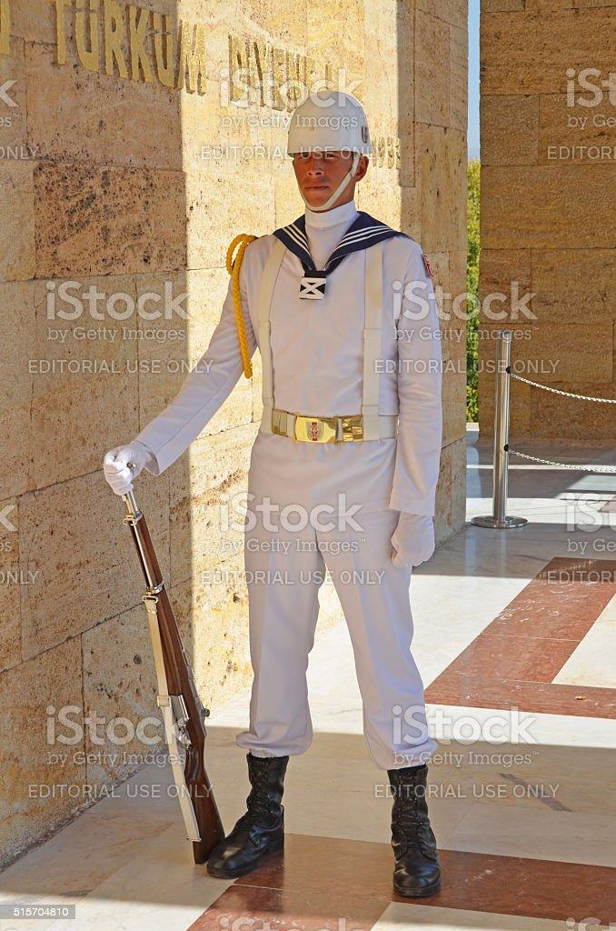 guards of mausoleum of Mustafa Kemal Ataturk stock photo