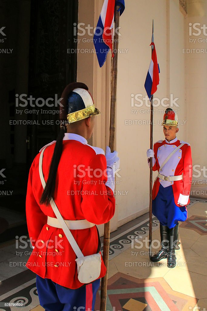 Guards standing by the entrance of National Pantheon stock photo