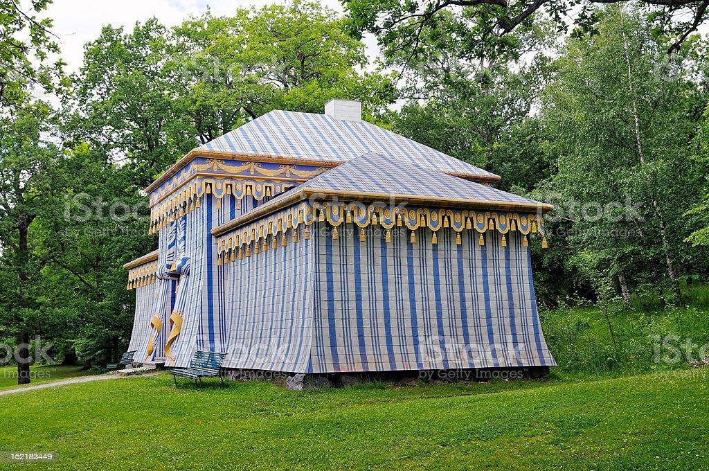 Guards' Tent in Drottningholm park. stock photo